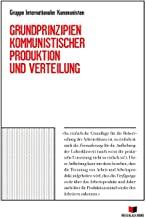 Buchumschlag G.I.K. Grundprinzipien Kommunistischer Produktion und Verleilung